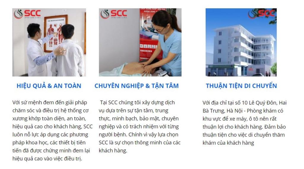 phòng khám xương khớp scc